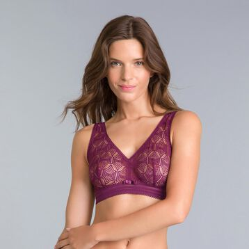 Daily Glam purple garnet lace bralette - DIM