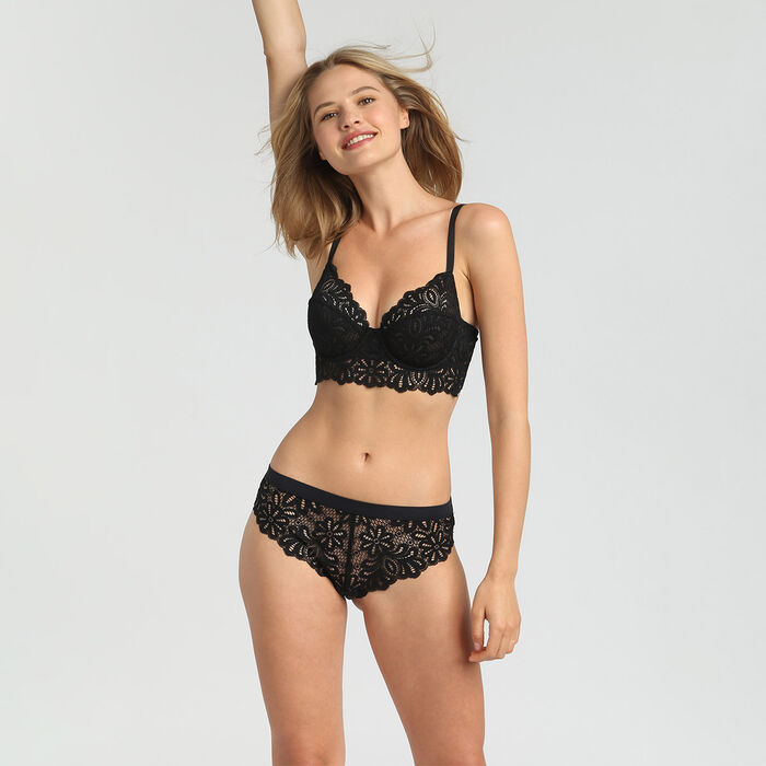 Lace black briefs Daily Glam, , DIM
