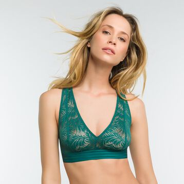 Bralette in green lace - MOD de Dim, , DIM