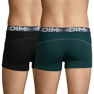 Lot de 2 boxers Vert Pacific et Noir 3D Flex Air pour homme, , DIM