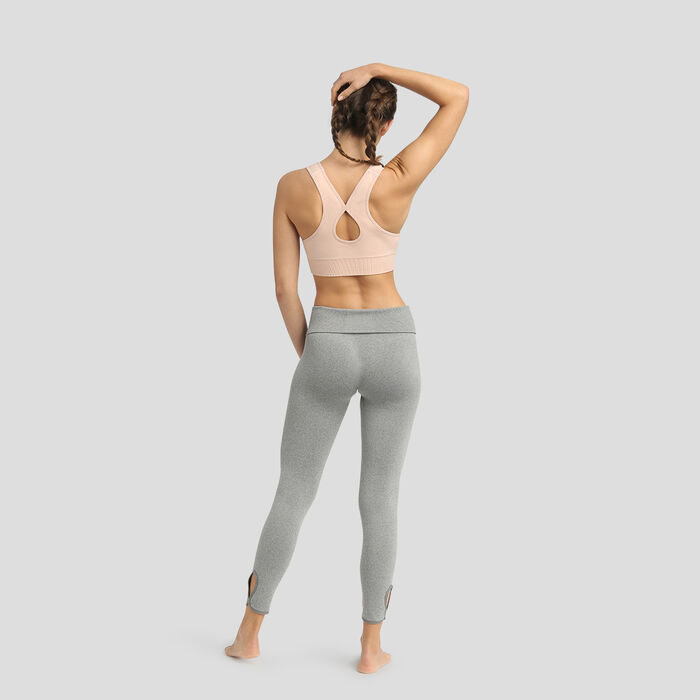 Dim Sport Moderate Impact seamless padded bra in almond pink, , DIM