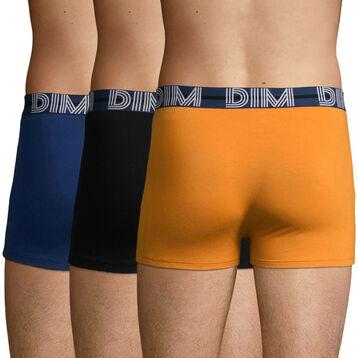3 Pack cotton trunks Desert Sand, Eclipse Blue, and Black Dim Power, , DIM