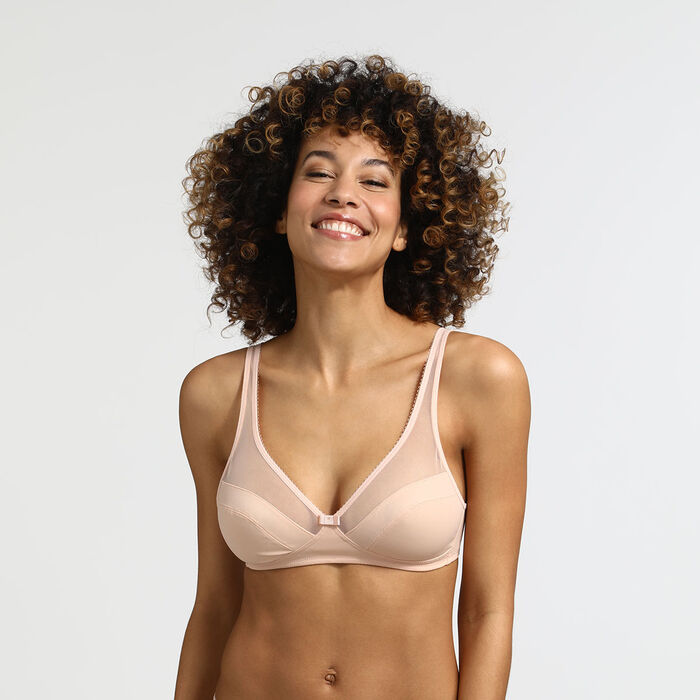 Generous Limited Edition nude sequined underwire bra, , DIM