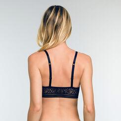 Soutien-gorge Triangle Bleu Infini en dentelle Sublim Fashion, , DIM