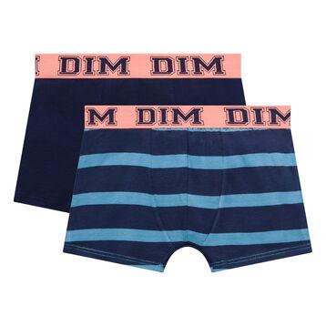 2 pack blue trunks for Boy - Rythmics, , DIM