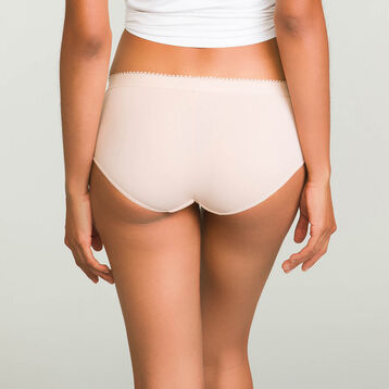 2 pack Ecodim microfiber shortys in Nude Pink and Precious Purple, , DIM