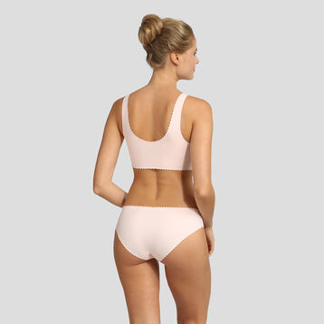 Non-wired soft pink bra New Body Touch Libre by Dim, , DIM