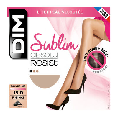Collant beige nature Sublim Absolu® Resist 15D, , DIM