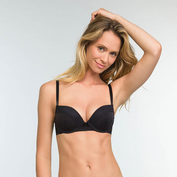Trendy Micro Microfiber Push up Bra in Black, , DIM