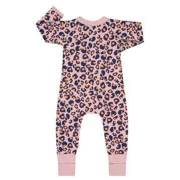 Pyjama zippé en Coton Stretch imprimé Rose moucheté, , DIM