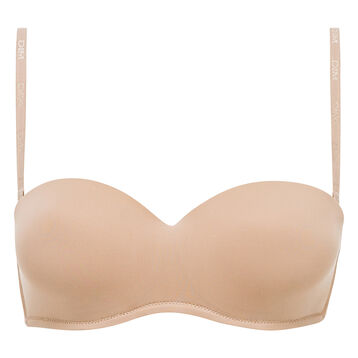Invisi Fit strapless bandeau bra in barely beige, , DIM