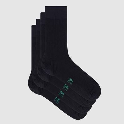 "Набор 2 шт.: синие мужские носки из лиоцелла с принтом ""Полоска"" Green by Dim, , DIM"