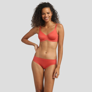 Balconette bra in gala apple red color Body Touch by Dim, , DIM