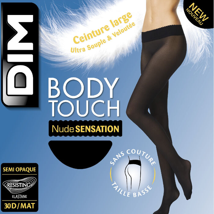 Body Touch 30D semi-opaque nude sensation tights, , DIM