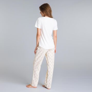 Soft & Cool pink mother-of-pearl pyjama pants - DIM