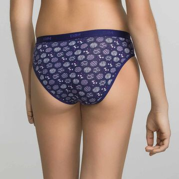 3 pack purple cotton briefs - Box Japon, , DIM