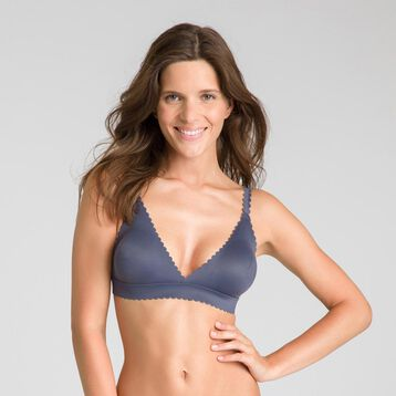 Body Touch granite grey triangle bra - DIM