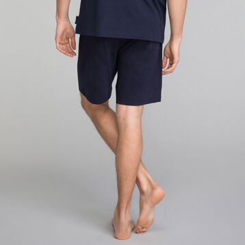 Navy blue pyjama shorts - Mix and Match, , DIM