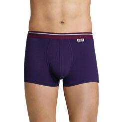 Boxer violet auburn ceinture lie de vin DIM Colors-DIM
