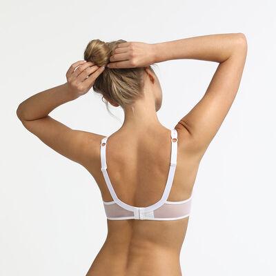 Generous MOD Dim underwire bra with white embroidery, , DIM