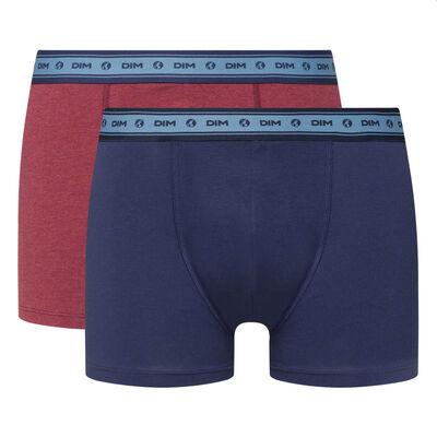 Набор 2шт.: Красные и синие мужские боксеры из натурального хлопка Green by Dim, , DIM