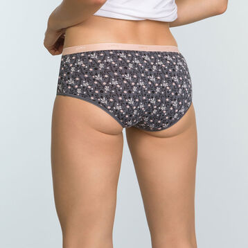 3 Pack Stretch Cotton Wolf print Shorties Les Pockets, , DIM
