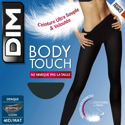Body Touch Opaque 40 tights in grey, , DIM
