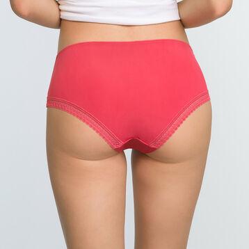 Shorty en microfibre Rouge Casual pour femme Micro Lace Bar à Culottes, , DIM