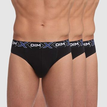 3 Pack X-Temp Men's Stretch Cotton trunks in Black, , DIM