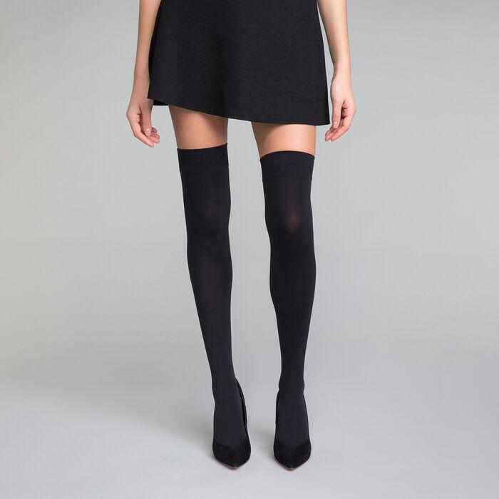 Chaussettes hautes opaques noires Femme - DIM Style, , DIM