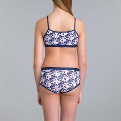Set of 3 DIM Girl Pocket Blue Flower shorties - DIM
