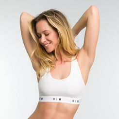 White non-wired racerback bra - DIM Originals, , DIM