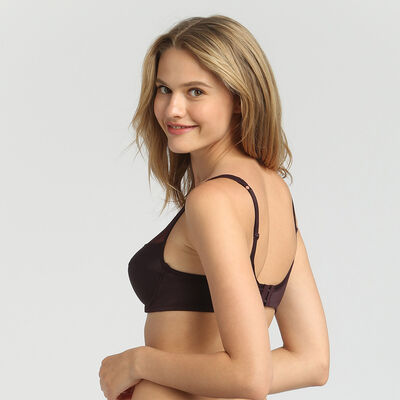 Dim Generous precious brown underwired bra, , DIM