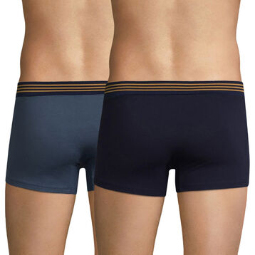 Lot de 2 boxers gris et bleu cobalt - Soft Touch Pop, , DIM