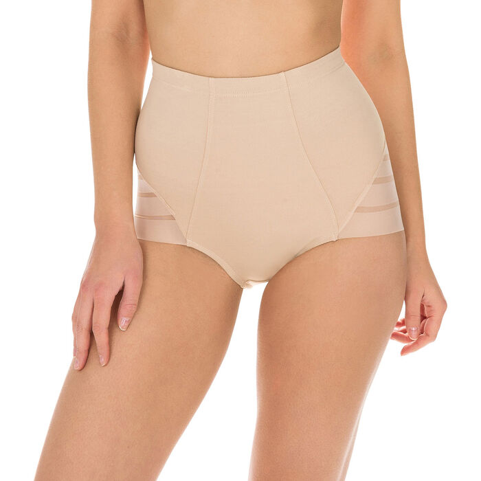Diam's Control high rise tummy flattening knickers in nude, , DIM