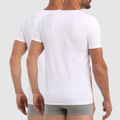 Pack of 2 white X-Temp crew-neck T-shirts, , DIM