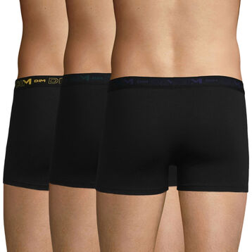 Lot de 3 boxers noirs - Coton Stretch, , DIM