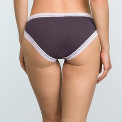 Granite Grey women's brief in cotton Softy Line, , DIM