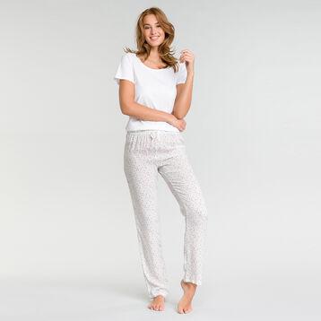Pantalon pyjama blanc tacheté - Fashion, , DIM