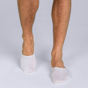Pack of 2 pairs of white Basic Coton footsies for men, , DIM