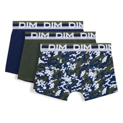 Set of 3 DIM Boy military green boxers - DIM