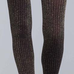 Collant cotte de mailles en lurex or  DIM & BASH-DIM