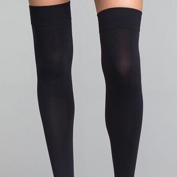 Black opaque high socks - Dim Style, , DIM