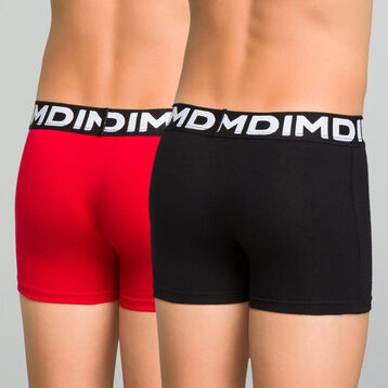 Lot de 2 boxers garçon noir et rouge inscription Hawai - Box Hawai, , DIM
