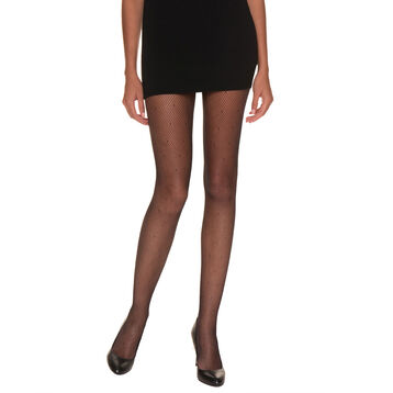 So Sexy 65 dotted swiss fishnet tights in black, , DIM
