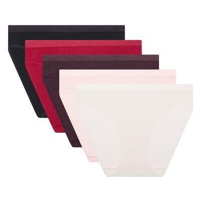 EcoDim Les Pockets pack of 5 stretch cotton briefs, , DIM