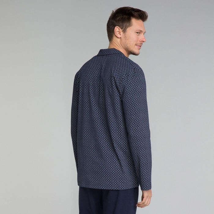 Navy blue patterned nightshirt - Mix and match, , DIM