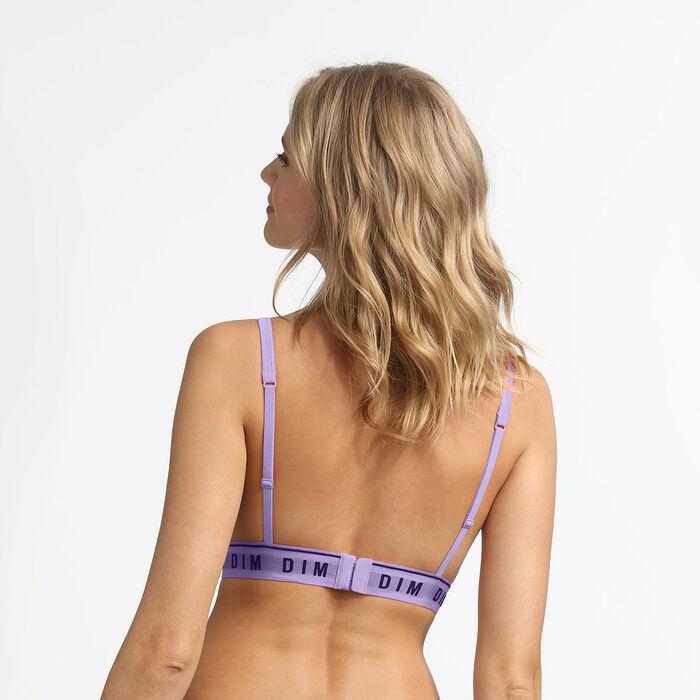 Underwired triangle bra in lilac cotton Originals Cotton, , DIM