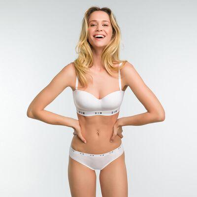 Black non-wired bra with removable straps - DIM Originals, , DIM
