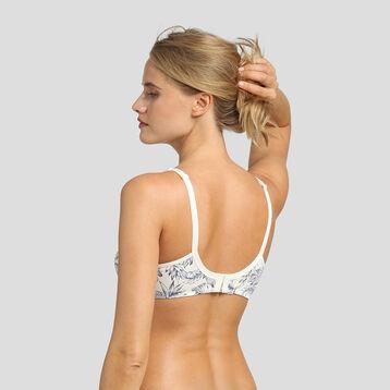 Underwired bra with retro-tropical print Generous by Dim, , DIM